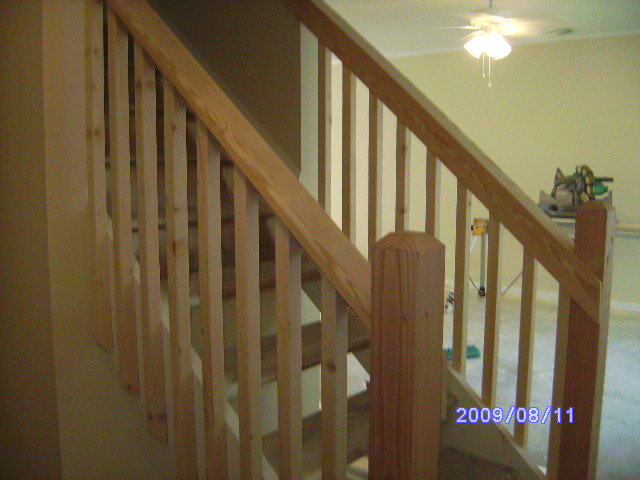 Remodeling includes stairs, rails and bannisters