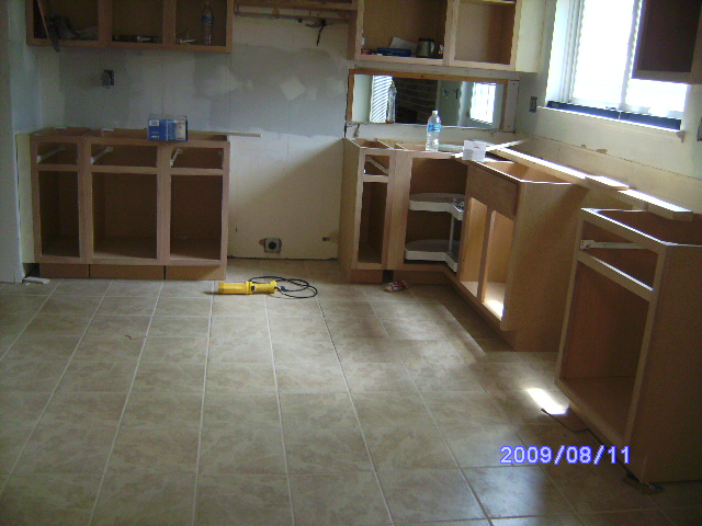 Phase 2 of the kitchen remodel on Placid