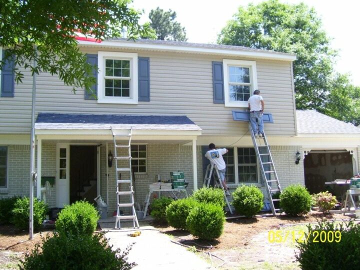 Exterior siding and shutters remodeling service