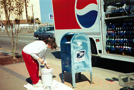 Sheila and her team painted over 2,200 mailboxes for the United States Post Office.