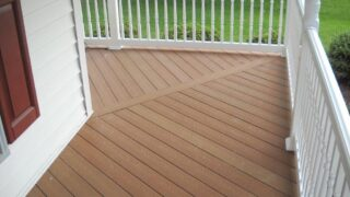 Gorgeous porch deck replacement in Virginia Beach