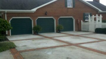 home improvement concrete driveway with brick inlay suffolk