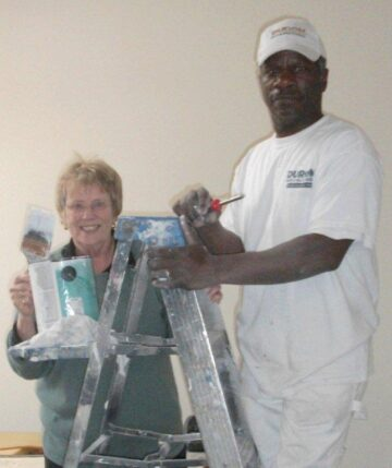 sheila and slater at virginia beach residential house painting project
