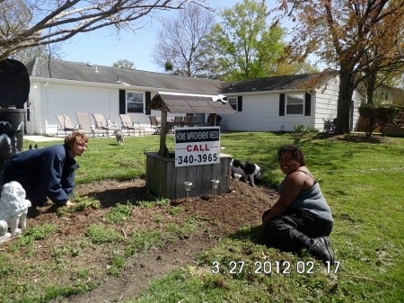 Raymond and Ronda - Sheila's team of yard clean up specialists