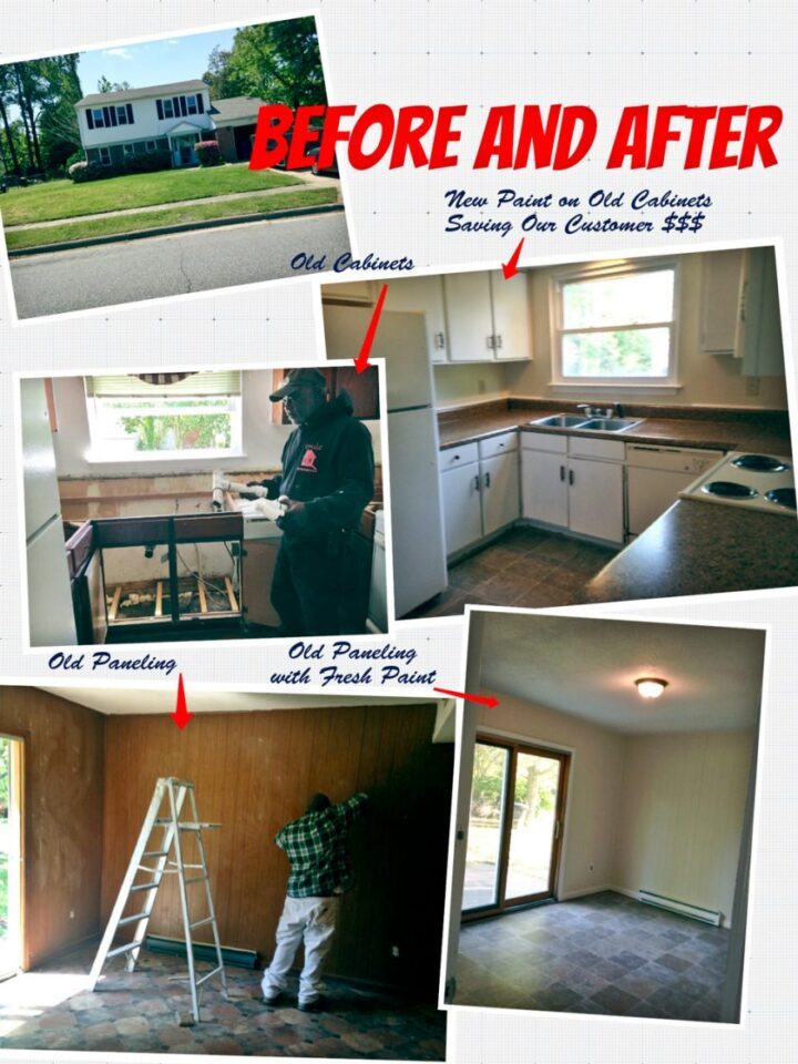 Remodeling kitchens and painting